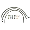 Oil & Water Braided Line Kit Suits Nissan RB20, RB25, RB30 High Mount Turbo