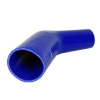 Silicone Elbow Reducing 45 Deg x 6 inch Leg Blue - Click for more info