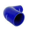 Silicone Hose Reducing Elbow 90 Degree 5 inch Leg Blue - Click for more info